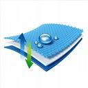 PIKOWANY OCHRANIACZ NA MATERAC 160x200 Wodoodporny Szerokość 160 cm