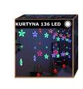 Kurtyna wiszące gwiazdki 136LED LAMPKI SOPLE 4kol