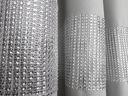 ZASŁONA GOTOWA 145x160 na przelotkach LEN-K Kolor srebrny czarny odcienie szarości wielokolorowy inny
