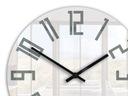 Zegar ścienny ModernClock SLIM Biało - Szary CICHY Typ ścienny