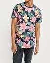 ABERCROMBIE Hollister T-Shirt Koszulka Kwiaty L Waga (z opakowaniem) 0.3 kg