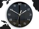 Большой часы instagram Карта 80x40 современный 3d-Тихий