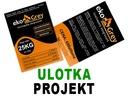 Projekt graficzny ULOTKI, ULOTKA, f.vat
