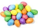 ЯЙЦА цветные 4 см 24 штук из пенопласта с БЛЕСТКАМИ
