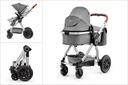 Wózek dziecięcy wielofunkcyjny Kinderkraft VEO 3w1 Akcesoria w zestawie Torba do wózka Folia przeciwdeszczowa Adaptery do fotelika Osłona na nóżki