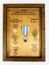 Ekspozytor NEW odznaki zasłużonego HDK imię rama Oryginał oryginał