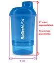 Biotech SHAKER WAVE + NANO 300 ml + 150 ml Czarny