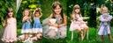 Zestaw dla dziewczynki szorty bluzka kwiaty 110 Marka Inna marka