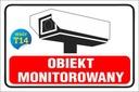 TABLICZKA - Obiekt MONITOROWANY 20x30 PCV 5mm Waga (z opakowaniem) 0.1 kg