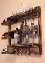 Półka na wino alkohol z palet rustykalna vintage Kolor mebla Wielokolorowy