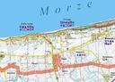 MAPA BATYMETRYCZNA JEZ. JAMNO + GMINA MIELNO GPS Rok wydania 2019