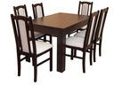 NOWOŚĆ stół rozkładany 180/140x80 z 6 krzesłami
