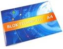 Blok techniczny szkolny A4 10 kartek biały