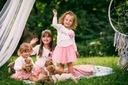 Zestaw dla dziewczynki spódniczka tiul cudo lato Rękaw Długi rękaw