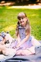 Sukienka szmizjerka marynarska dziewczynka PSYTUL Rękaw Bez rękawów