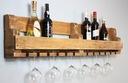 Półka na wino z drewna palet loft rustykalna 100cm