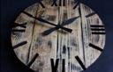 Zegar OldStyle2 rustic porwansalski loft duży 60cm Typ ścienny