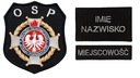 КОМПЛЕКТ нашивок пожарных ОПС, ОХРАНА с застежкой-липучкой доставка товаров из Польши и Allegro на русском