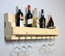 Półka na wino z drewna palet loft rustykalna 100cm Montaż meble złożone