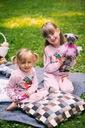 Dres dla dziewczynki różowy papuga 140 Rozmiar 140