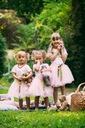Zestaw dla dziewczynki spódniczka tiul lato różowa Rozmiar 130