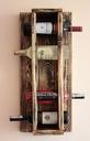 Półka na wino z drewna wieszak loft alkohol