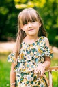 Zestaw dla dziewczynki szorty bluzka kwiaty 100