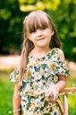 Zestaw dla dziewczynki szorty bluzka kwiaty 110