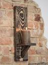 Półka świecznik ścienny rustykalny z drewna duży Waga (z opakowaniem) 2 kg