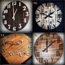 Zegar z drewna duży 40cm loft rustykalny scandi Zasilanie bateryjne