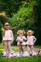 Dres dla dziewczynki różowy łabędź 120 Długość maxi
