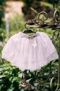 Zestaw dla dziewczynki kotek tiul lato różowa 90 Kolor biały różowy szary, srebrny