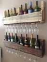 Półka na wino z drewna palet loft rustykalna 100cm Liczba poziomów 2