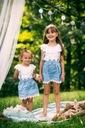 Sukienka Lato Wiosna jeans dziewczynka PSYTUL Rozmiar 110