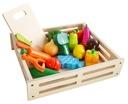 Drewniane Warzywa Owoce do Krojenia na Magnes XXL Wiek dziecka 3 lata +