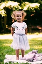 Zestaw dla dziewczynki kotek tiul lato różowa 110 Rękaw Krótki rękaw