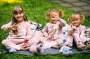 Dres dla dziewczynki różowy łabędź 110 Rękaw Długi rękaw