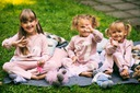 Dres dla dziewczynki różowy łabędź 120 Rękaw długi rękaw