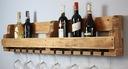 Półka na wino z drewna palet loft rustykalna 100cm Informacje dodatkowe na przyprawy na butelki