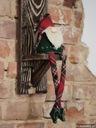Półka świecznik ścienny rustykalny z drewna duży
