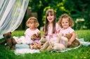Zestaw dla dziewczynki kotek tiul lato różowa 130 Rozmiar 130