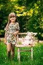 Zestaw dla dziewczynki szorty bluzka kwiaty 110 Rozmiar 110