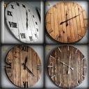 Zegar z drewna duży 60 cm loft rustykalny scandi Typ ścienny