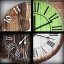 Zegar z drewna duży 40cm loft rustykalny scandi
