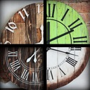 Zegar z drewna duży 60 cm loft rustykalny scandi