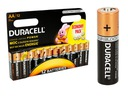 12x ORYGINALNE BATERIE ALKALICZNE DURACELL R6/AA