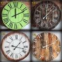Zegar z drewna duży 60 cm loft rustykalny scandi Waga (z opakowaniem) 5 kg