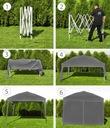 Pawilon Handlowy Namiot Ogrodowy Ekspresowy 3x3m s Rodzaj poszycia inny rodzaj