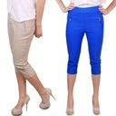 SPODNIE RYBACZKI duże jeans SPODENKI turkus 44-46 Kolor niebieski