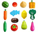 Drewniane Warzywa Owoce do Krojenia na Magnes XXL Marka inna